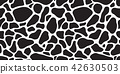 Cow skin seamless pattern dog isolated Dalmatians 42630503