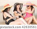 海滩 海岸 女性 42630561