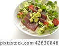 a tunrice bowl, food, foods 42630846