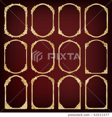 set of golden vintage frame 42631477