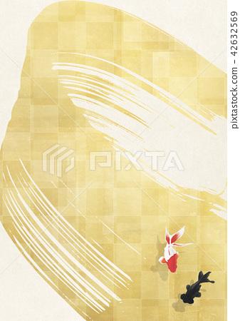 金鱼 背景 黄金 42632569