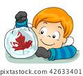 Kid Boy Ice Sun Catcher Illustration 42633401