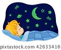 孩子 睡觉 床 42633416