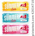 Hot Summer Sale Banner With Coupon Code 42634710
