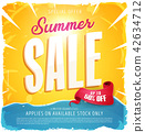 Hot Summer Sale Banner 42634712
