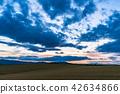 """Biei的""""北海道""""小山·晚上風景的風景 42634866"""