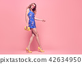 Fashion Young woman Smiling in Summer Outfit 42634950