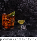 Rum and Cola Cuba Libre with Lime and Ice 42635117