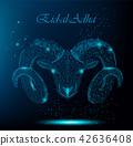 Muslim holiday Eid al-Adha. Polygonal ram 42636408