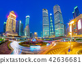 night view of Lujiazui District at shanghai, china 42636681