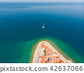 Aerial view of old town Piran, Slovenia, Europe. Summer vacations tourism concept background. 42637066