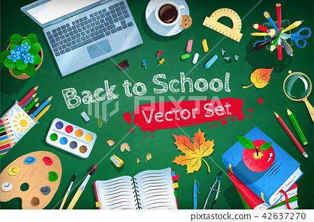 Top view Back to School vector set 42637270