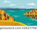 Autumnal lake landscape 42637798