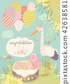 baby stork card 42638581
