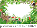 Tropical Background with Puma and Toucan 42638821