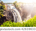 Victoria Falls on Zambezi River. Dry season. Border between Zimbabwe and Zambia, Africa 42639633