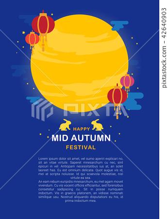 Mid Autumn festival banner vector illustration 42640903