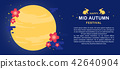 Mid Autumn festival banner vector illustration 42640904
