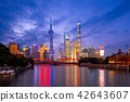 Night view of Pudong in shanghai, china 42643607