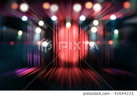 theater stage with red curtains and spotlights 42644223
