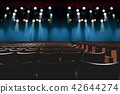 empty vintage seat in auditorium or theater 42644274