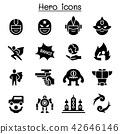Hero icon set 42646146
