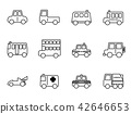 Cartoon simple outline vehicle on the road icon 42646653