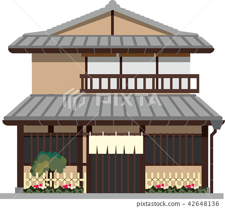 Japanese Style House Stock Illustration 42648136 Pixta