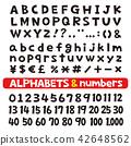 字母和数字字体 42648562