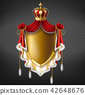 Vector royal coat of arms - crown, shield 42648676