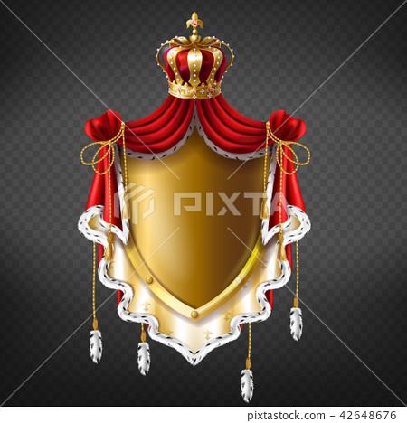 Vector royal coat of arms - crown, shield 42648676