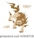 코마이누, 고마이누, 흰색 배경 42648728