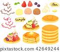 sweet, dessert, pancake 42649244