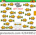 counting left and right picture of fish game 42649852
