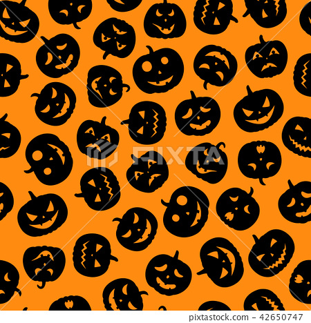 Set of scary faces Halloween pumpkins 42650747