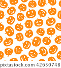Set of scary faces Halloween pumpkins 42650748