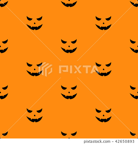 Set of scary faces Halloween pumpkins 42650893