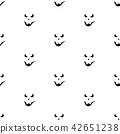 Set of scary faces Halloween pumpkins 42651238