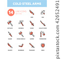Cold steel arms - modern line design icons set 42652491