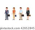 Business people cartoon character set 42652845