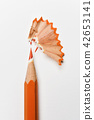 orange pencil crayon and shavings 42653141