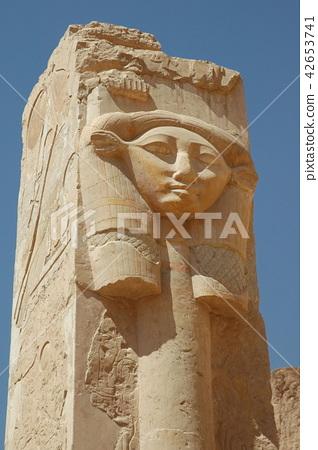 Egypt, Luxor, Queen Hatshepsut, Hatohol pillar 42653741