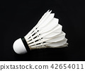 Badminton white shuttlecock feather professional. 42654011