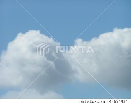ท้องฟ้าฤดูร้อนและเมฆสีขาว 42654934