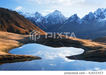 Mountain lake Koruldi in Svaneti 42655457