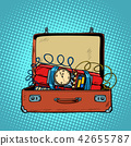 Suitcase with a time bomb 42655787