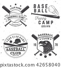 Baseball club badge. Vector illustration. Concept for shirt or logo, print, stamp or tee. 42658040