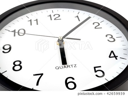 Clock or time abstract background, white clock  42659939