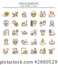 Spa Elements , Thin Line and Pixel Perfect Icons. 42660529