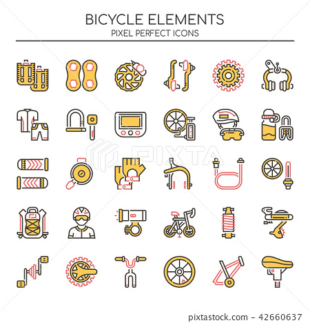 Bicycle Elements ,   Pixel Perfect Icons. 42660637